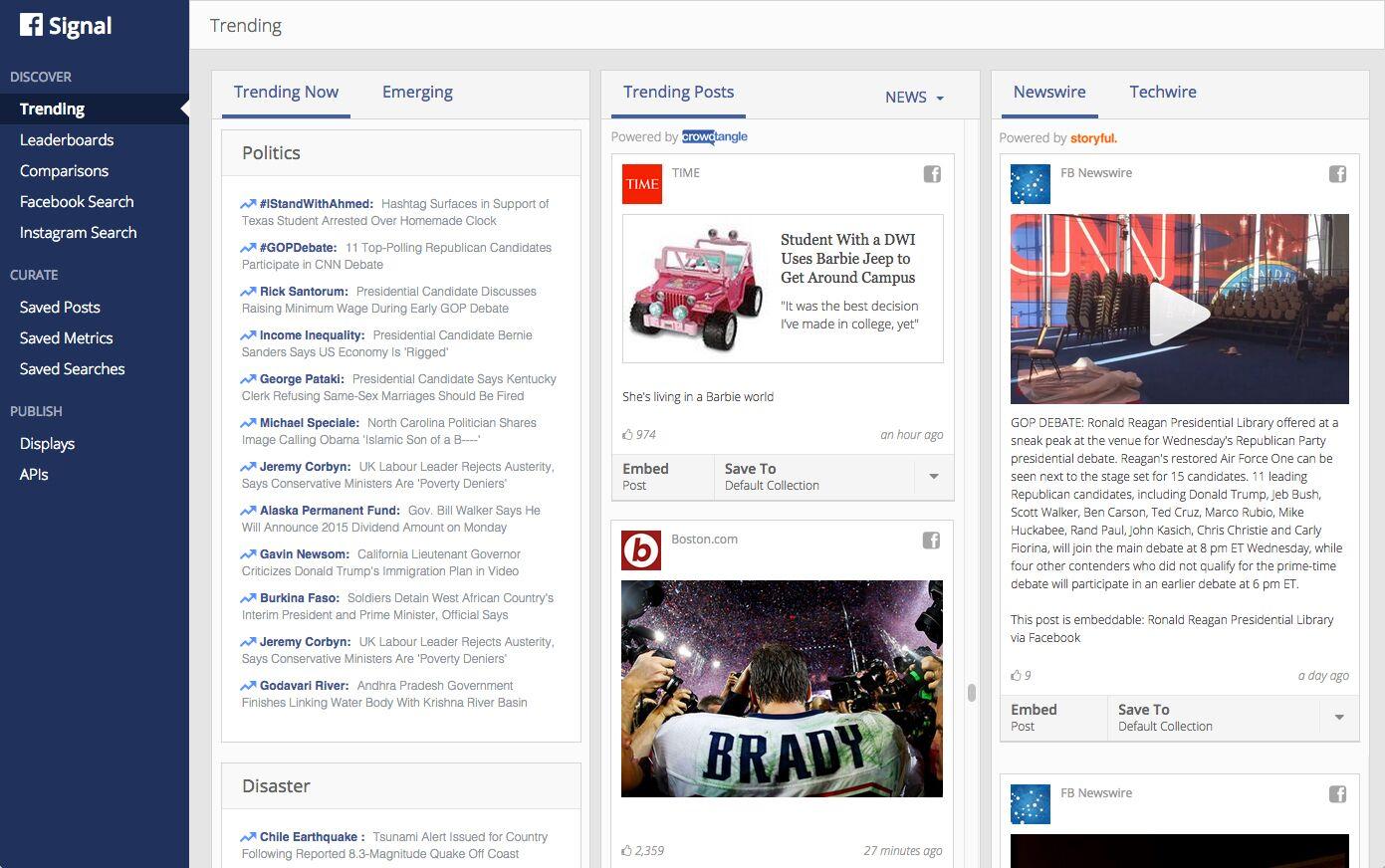 Facebook Signal App