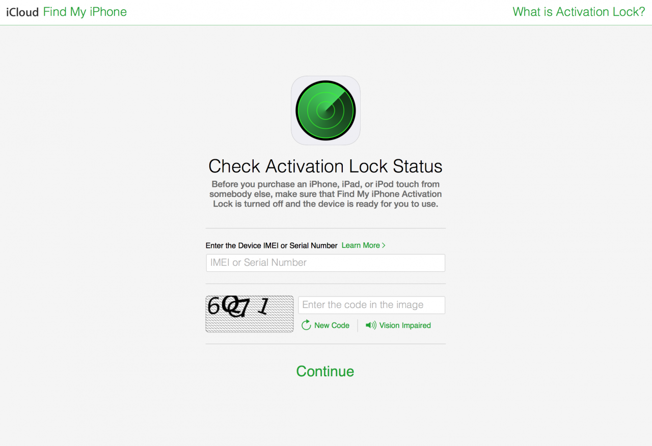 Check Activation Lock Status