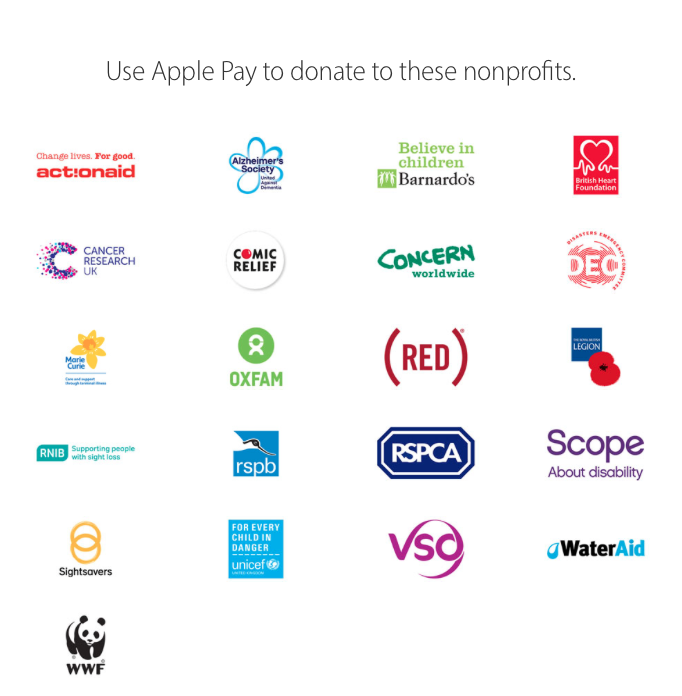 Apple Pay UK Donations