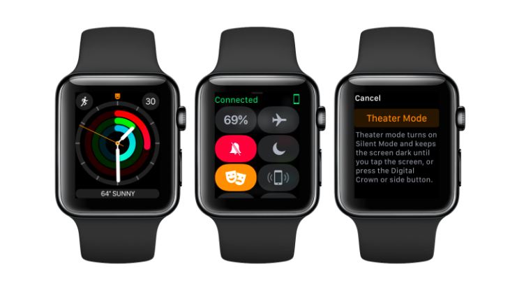 watchOS theater mode