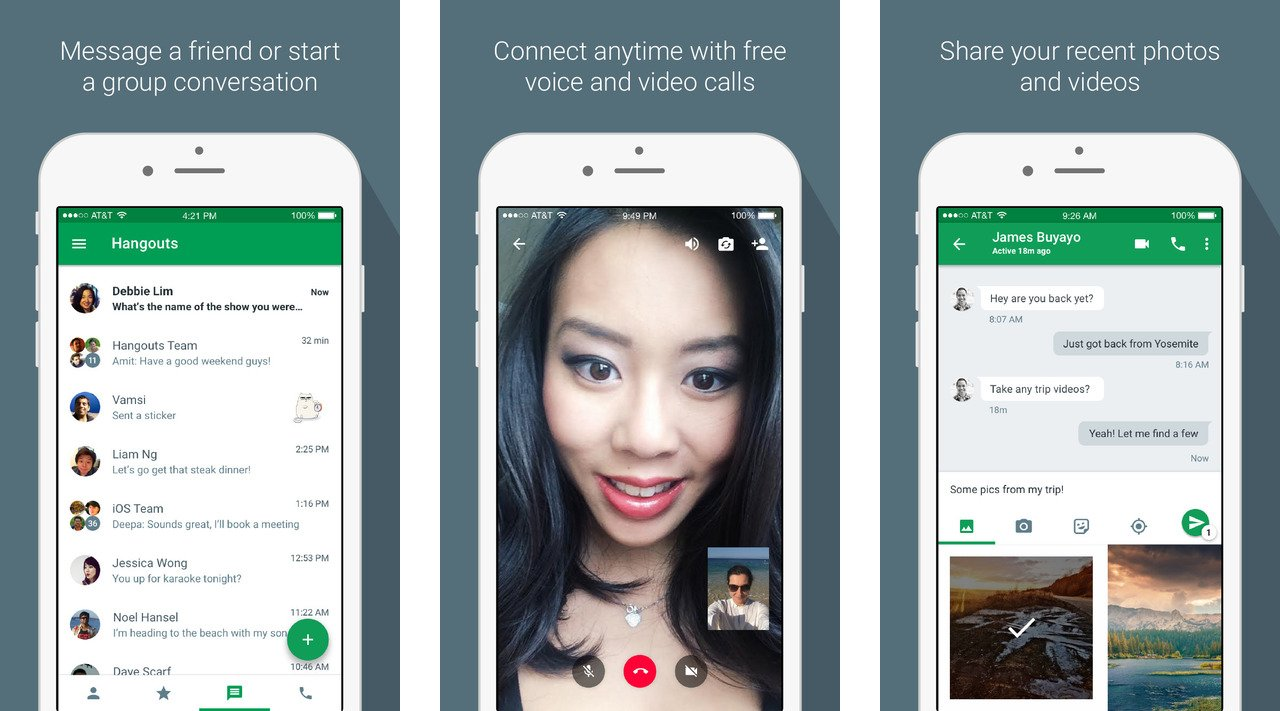 google hangout iphone hangouts now supports ios callkit for incoming and 10727