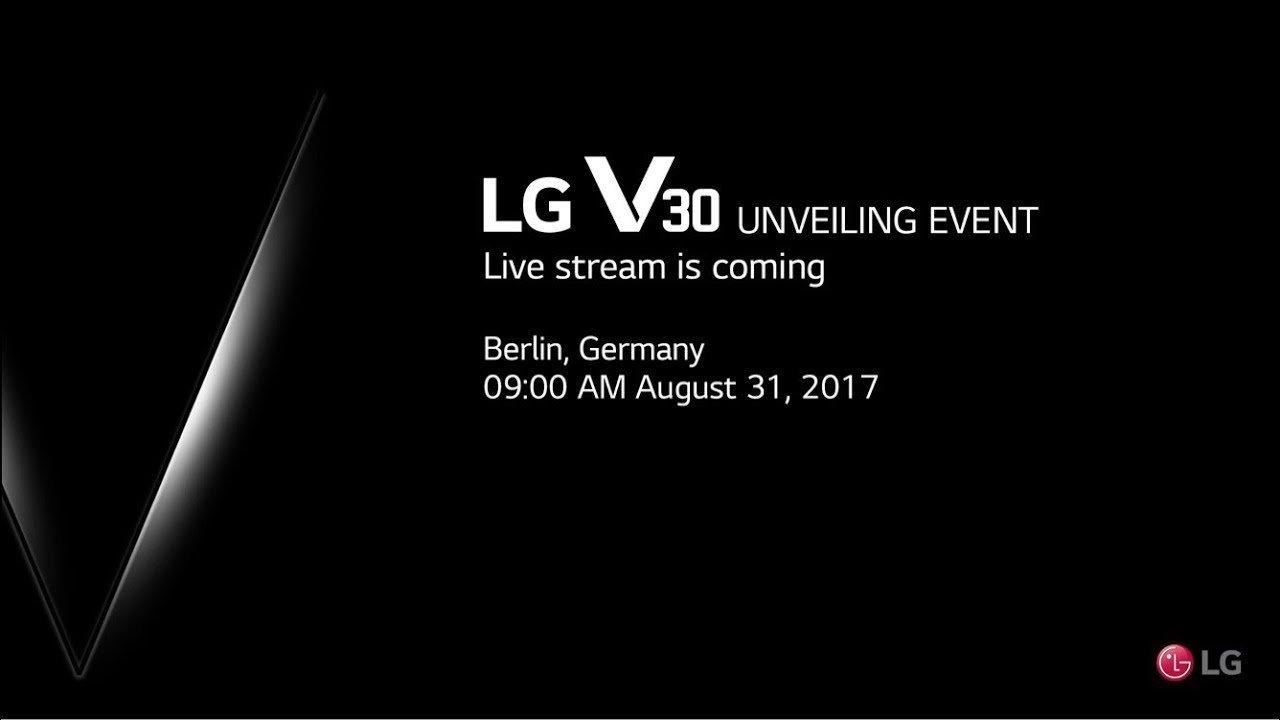 LG V30 Unveiling Event Live Stream