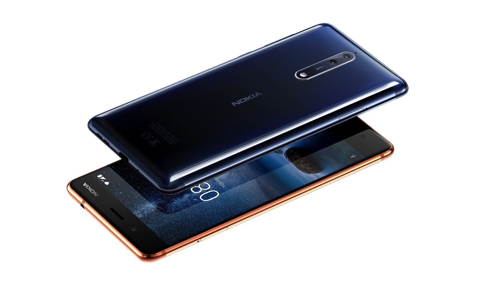 Nokia 8 Polished Blue and Copper