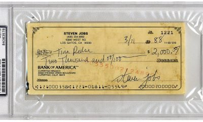 Steve Jobs Check Auction
