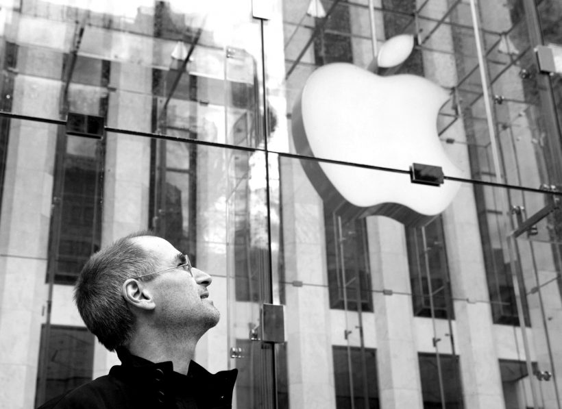 Steve Jobs at Apple Fifth Avenue